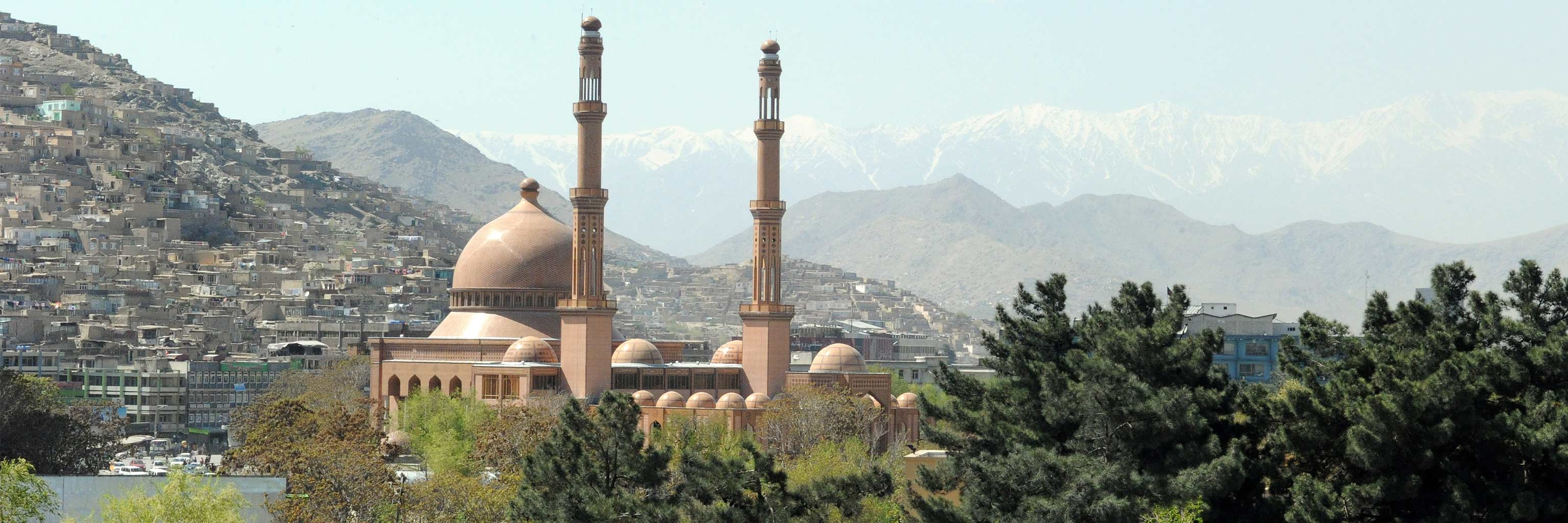 A view of the Haji Abdul Rahman Mosque in Kabul, which is the largest in Afghanistan