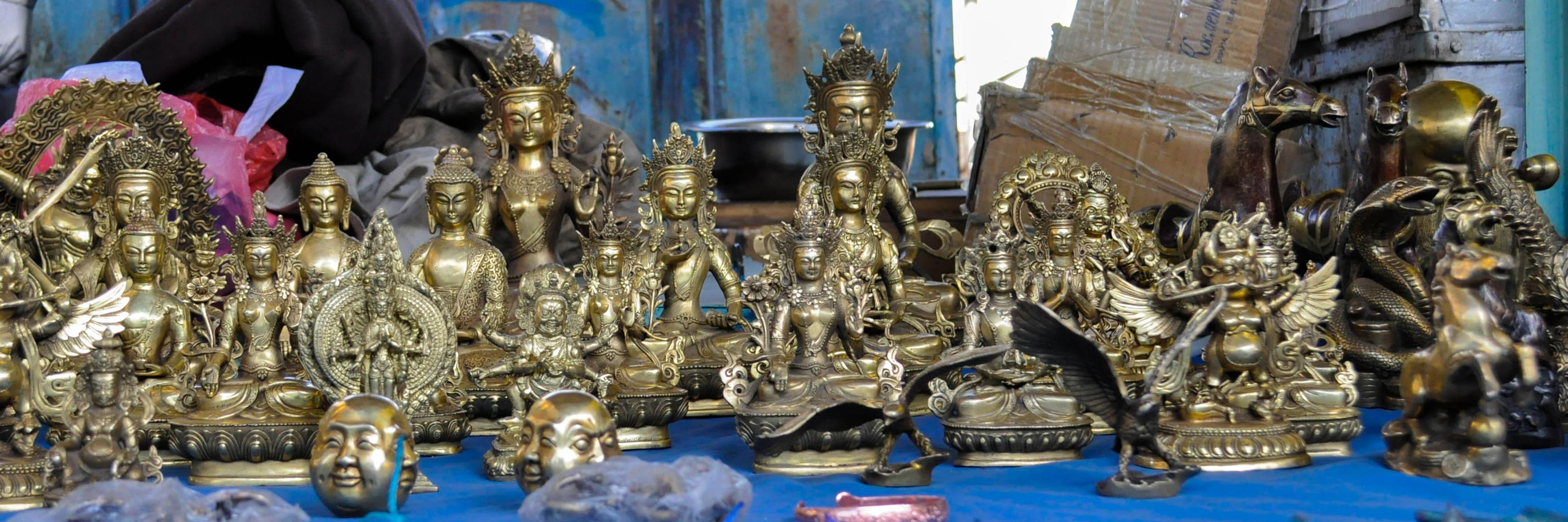 Mongolian statues and artifacts