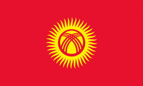 Flag of Kygyzstan