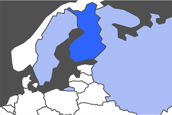 Finnish Language Map