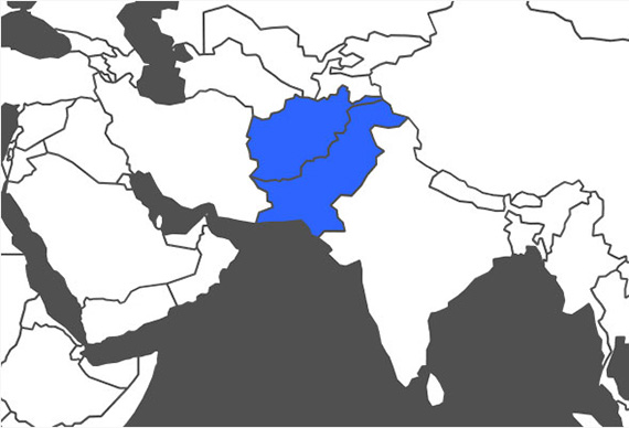 Pashto Language Map