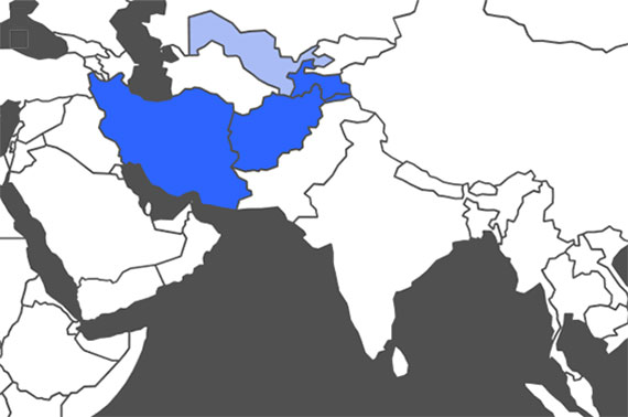 Persian Language Map