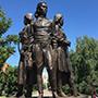 Statues of women soldiers in Kazakhstan