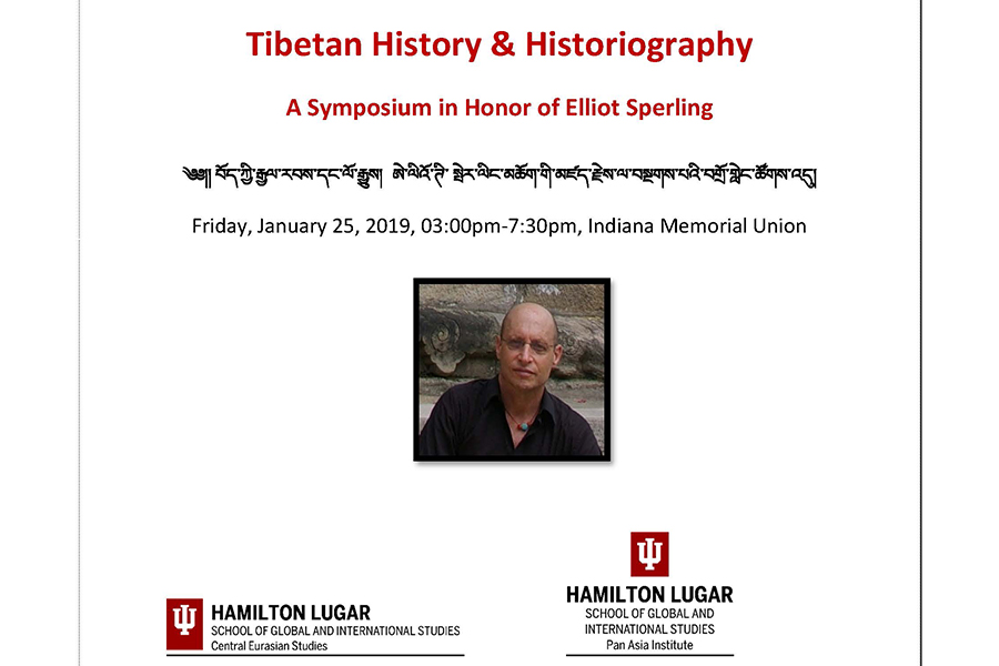 Cover of the program from Tibetan History & Historiography: A Symposium in Honor of Elliot Sperling