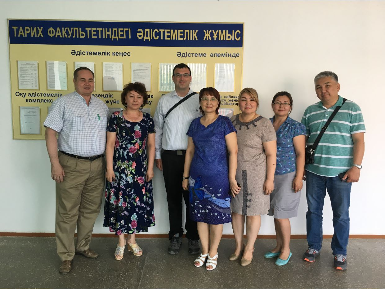 A group photo of Dr. Rees and colleagues from Aktobe Regional State University.